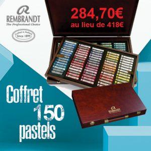 Coffret en bois de 150 pastels extra fin Rembrandt