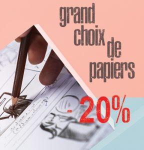 Grand choix de papiers