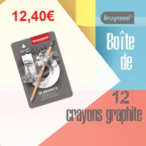 Boîte de 12 crayons graphite Bruynzeel